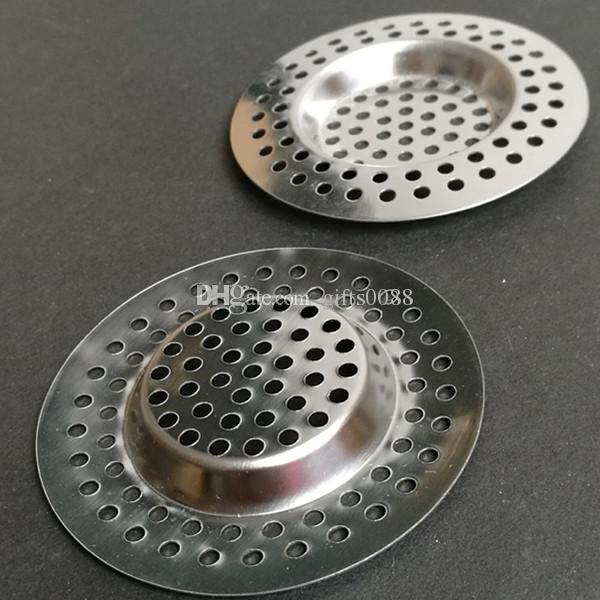 Filtre à cheveux de trou de drain de salle de bains de bouchon de déchets d'évier de crépine de cuisine en acier inoxydable
