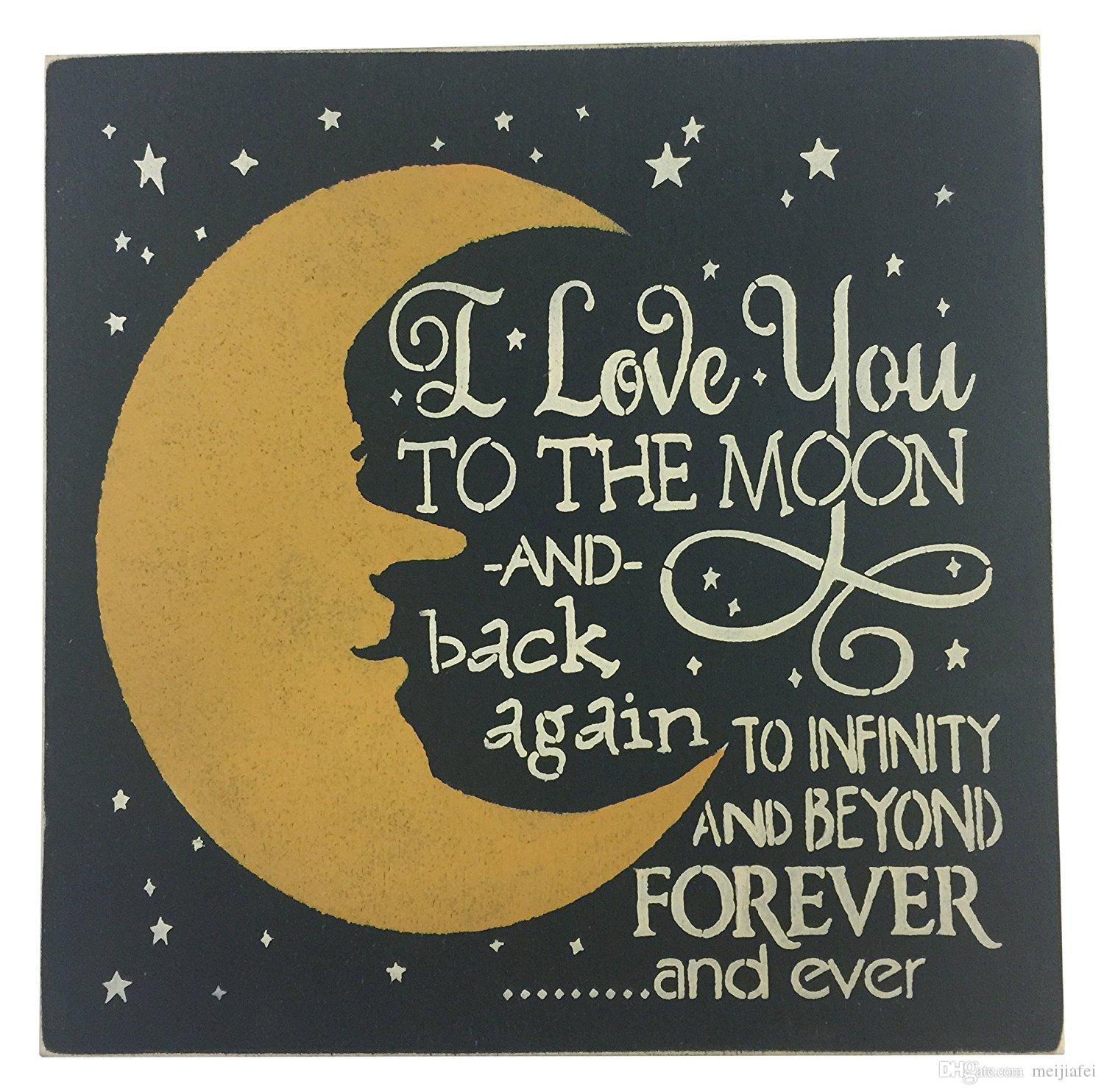 wall plaque chalkboard plaque sign i love you to the. Black Bedroom Furniture Sets. Home Design Ideas