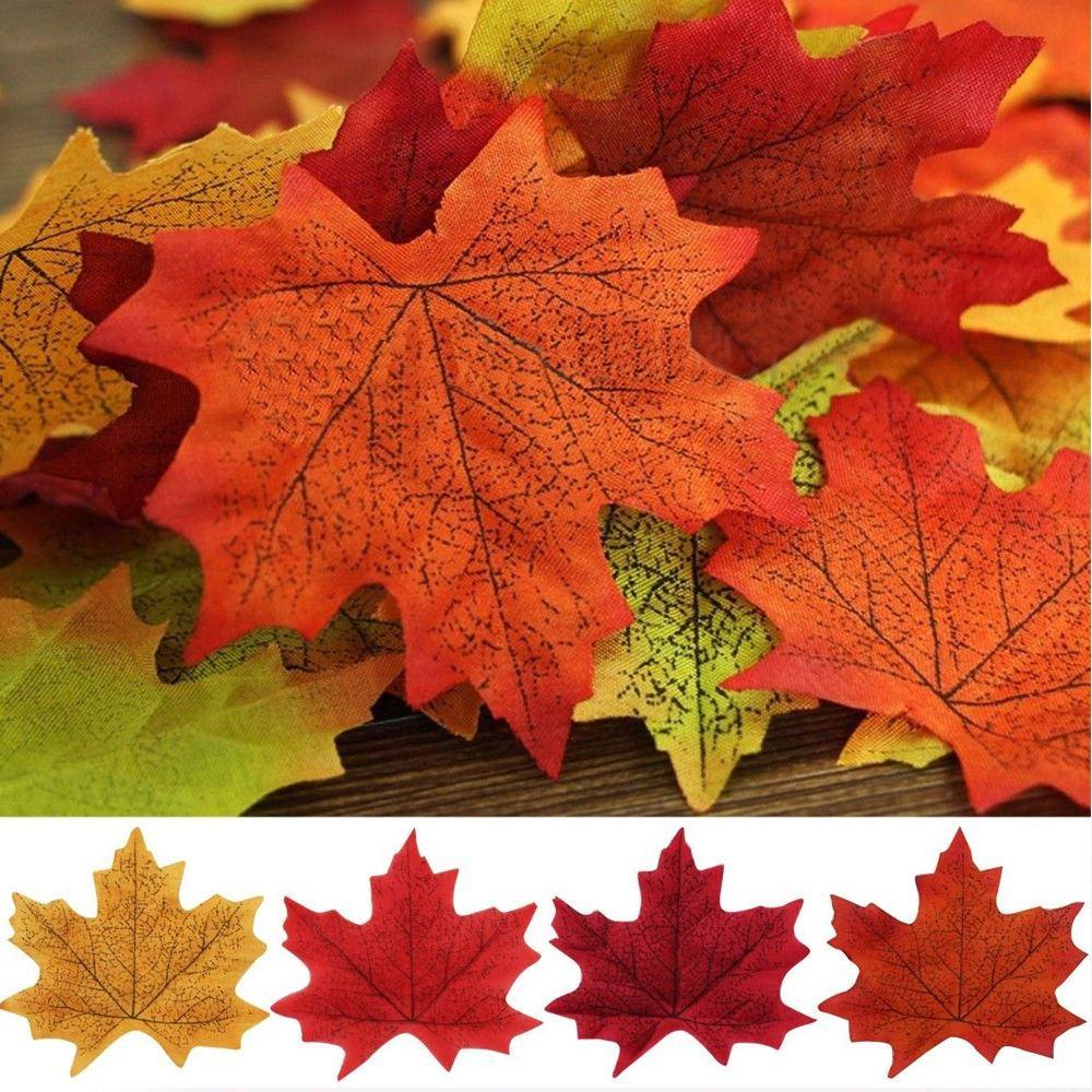 2018 artificial maple fall leaves colorful maple leaves for wedding
