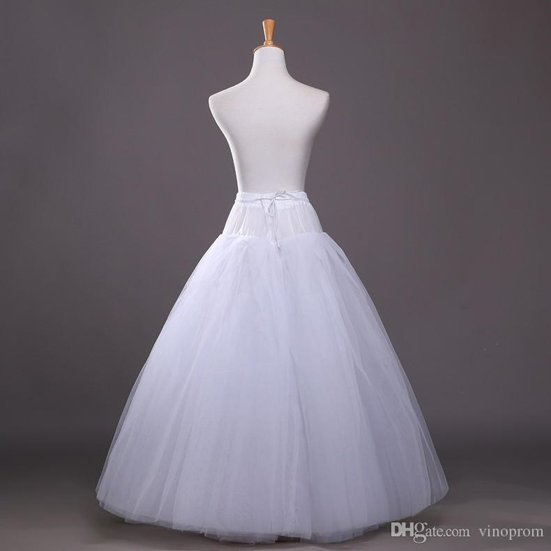 2018 Sottoveste lunghe in tulle lungo di alta qualità abito da sposa Sottoveste crinolina Sottogonna Gonna bianca Rockabilly