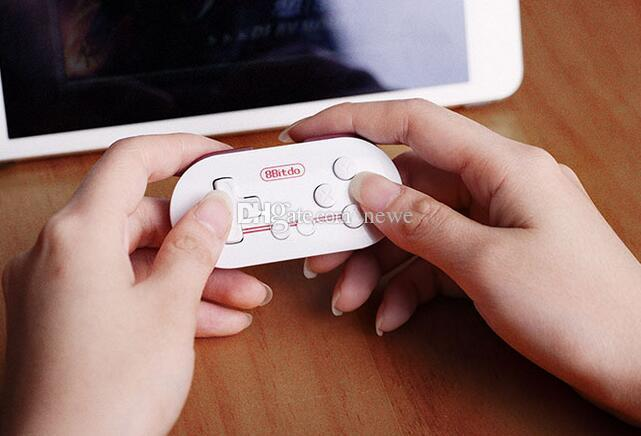 Hot jogos 8bitdo zero mini sem fio bluetooth v2.1 controlador de jogo gamepad joystick selfie para android ios janela mac os