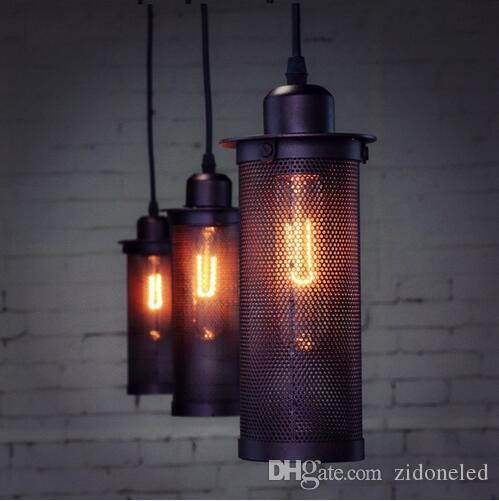 tom dixton vintage lights retro hanging lamp net iron pendant