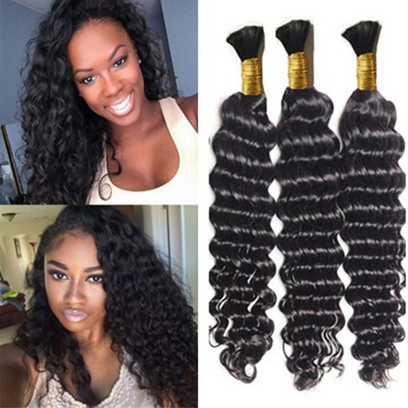 Cheap Bulk Hair Wholesale Deep Wave Hair Bulk Hot Brazilian Wave Bulk Human  Hair For Braiding Black Women Bulk Human Hair Wholesale Bulk Braiding Hair  From ... c0625e9dc87d