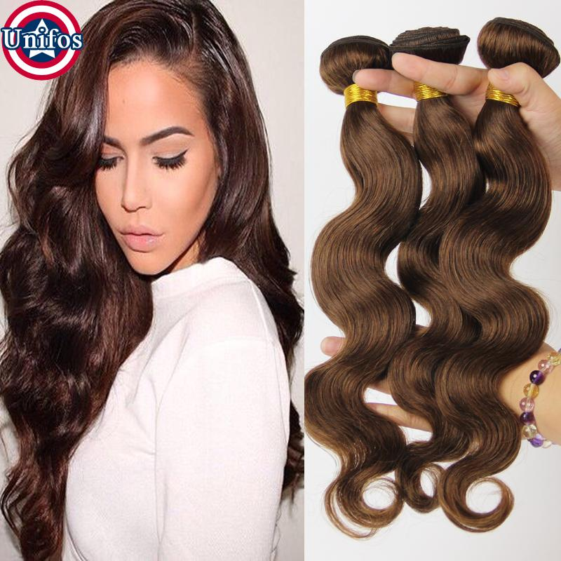 Cheap brown brazilian body wave virgin human hair extensions 6 34 pmusecretfo Image collections