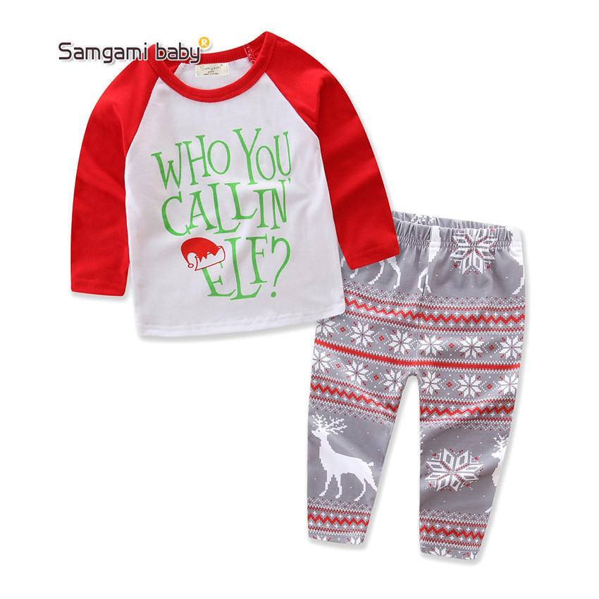 23fcc6a1d 2019 Newborn Baby Suits Children Kids Boy Girl Xmas Clothes Sets Who ...
