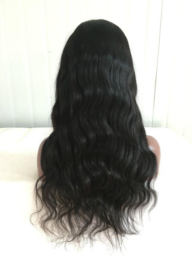 Peruano rendas frente perucas com parte lateral do cabelo do bebê glueless rendas frente ondulado peruca / full lace perucas de cabelo humano 130 densidade