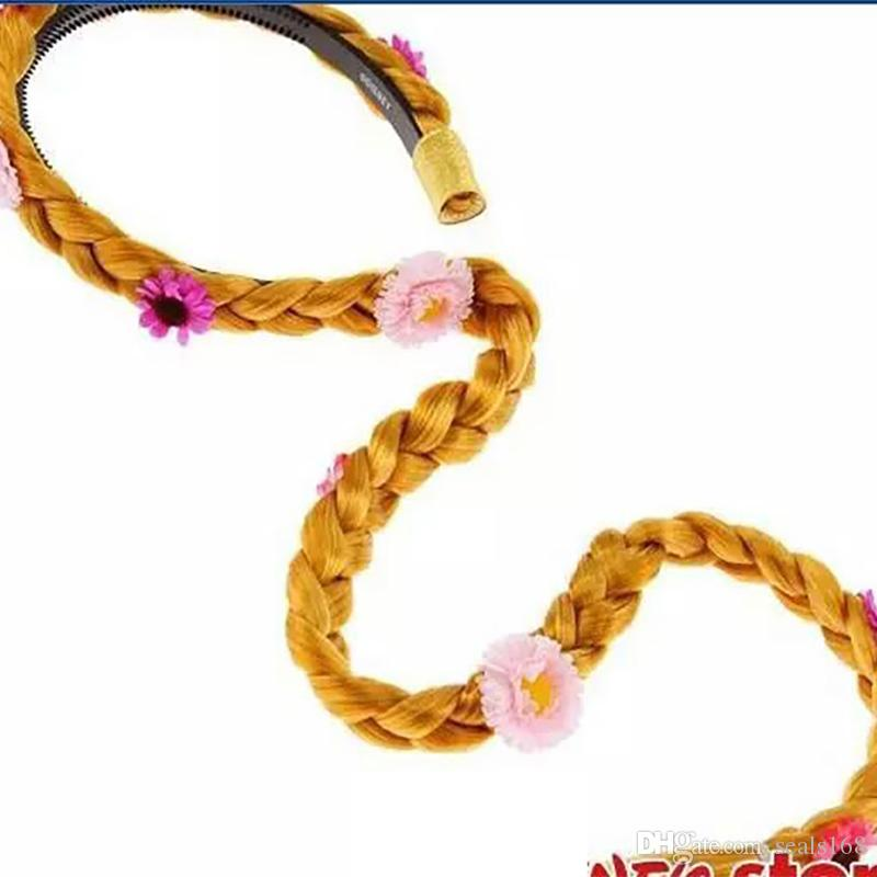 Рапунцель Запутанная Золушка длинные волосы парик дети дети косплей костюм Принцесса волос палочки с парик аксессуары 6 Дизайн чч-B24