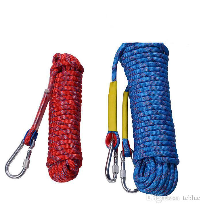 Wholesale 20m/30m Professional Climbing Rope Outdoor Excursions Accessories 10mm Diameter High Elasticity Safety Wire Rope Climbing Cords