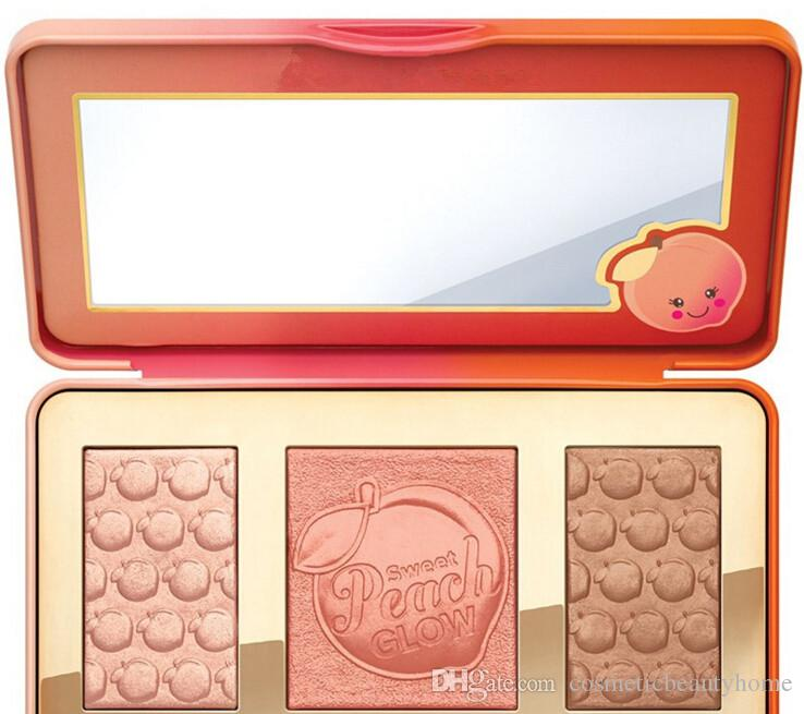 Makeup Palette Sweet Peach GLOW Blush Powder Blusher Brands Eyeshadow Face Make Up Cosmetics Kits Smell like Peaches free shopping