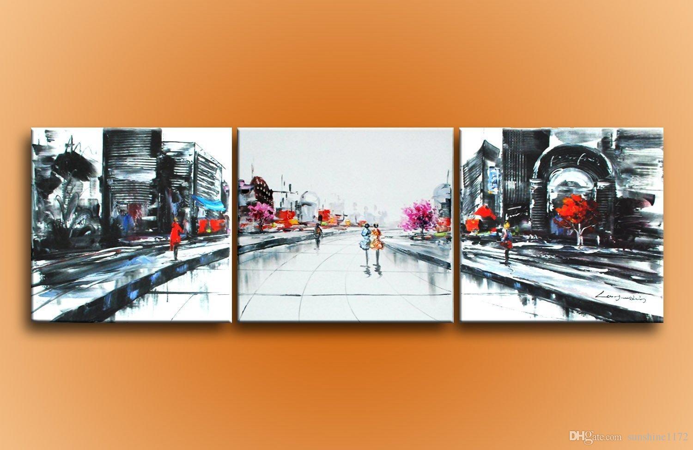 Compre pinturas al leo abstractas modernas pintadas a for Tele dipinte a mano moderne