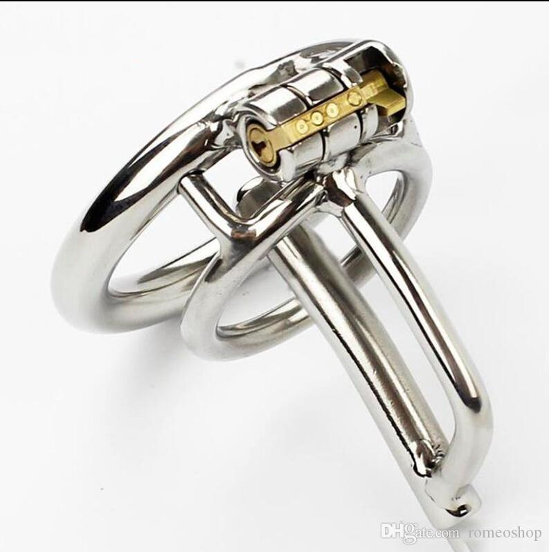 Magic lock new 50mm Length chastity devices with sounds urethral cock cage length stainless steel small chastity toys