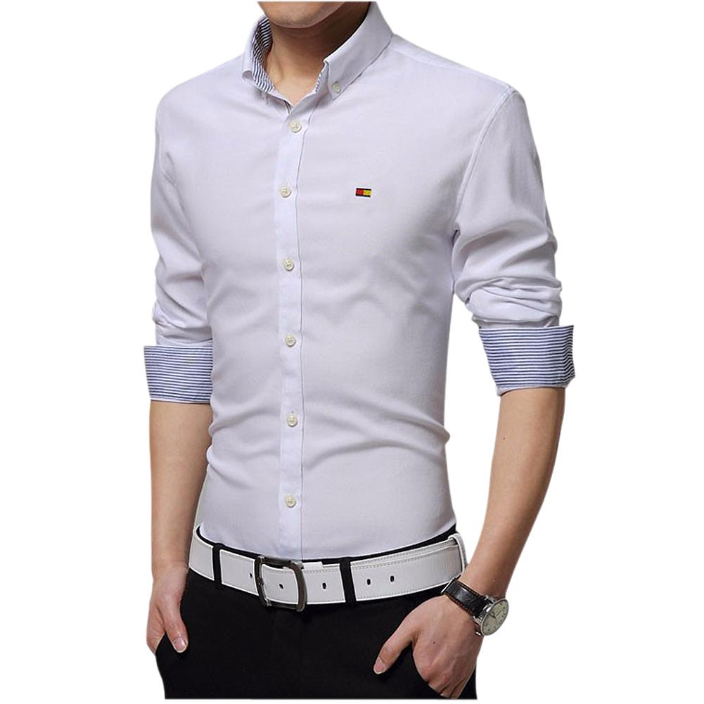 Shop Men's Dress Shirts Online, Wholesale Mens Dress Shirts Slim Fit Fashion  Long Sleeve Shirt High Quality Casual Size M 4xl White Yellow Green Gray  Light ...