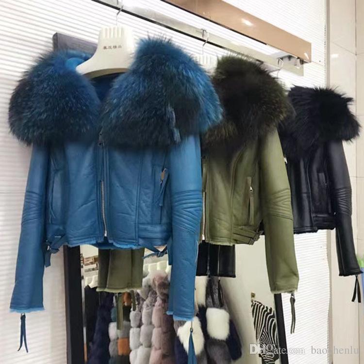 2018 Luxury 2017 Winter Jacket Women Real Natural Raccoon Fur ...
