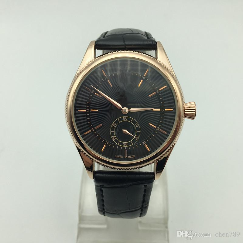 2017 Üst Marka Adam Kuvars Saatler lüks erkek Bilek İzle Satış yüksek kalite deri moda izle izlendi atmos saat erkek kol saati