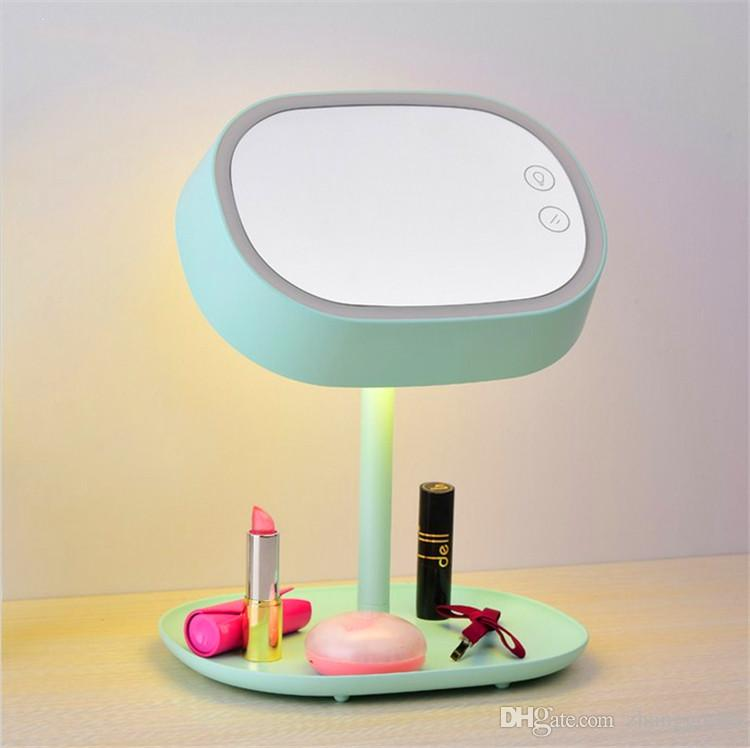 Wholesale muid cosmetic mirror led lamp make up mirrorled touch wholesale muid cosmetic mirror led lamp make up mirrorled touch lampstorable base plate multi function usb rechargeable mirror table lamp shaving mirror aloadofball