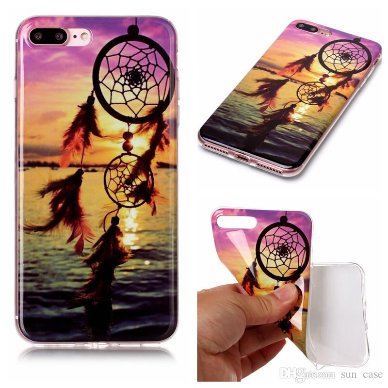 For iPhone 6S 6G 7 8 PLus X Samsung Galaxy S8 Plus Note 8 A3 A5 2017 J5 prime TPU IMD Cover Soft TPU Plastic Cellphone Cases