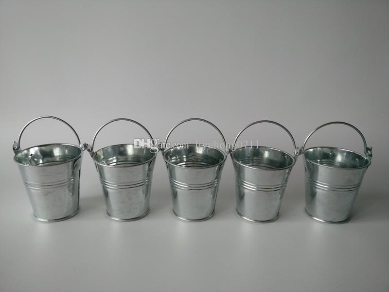 mini buckets metal cup tin box kids tin pails wedding favor holder candy box silvery easter eggs pot party favor packs party favor sunglasses from