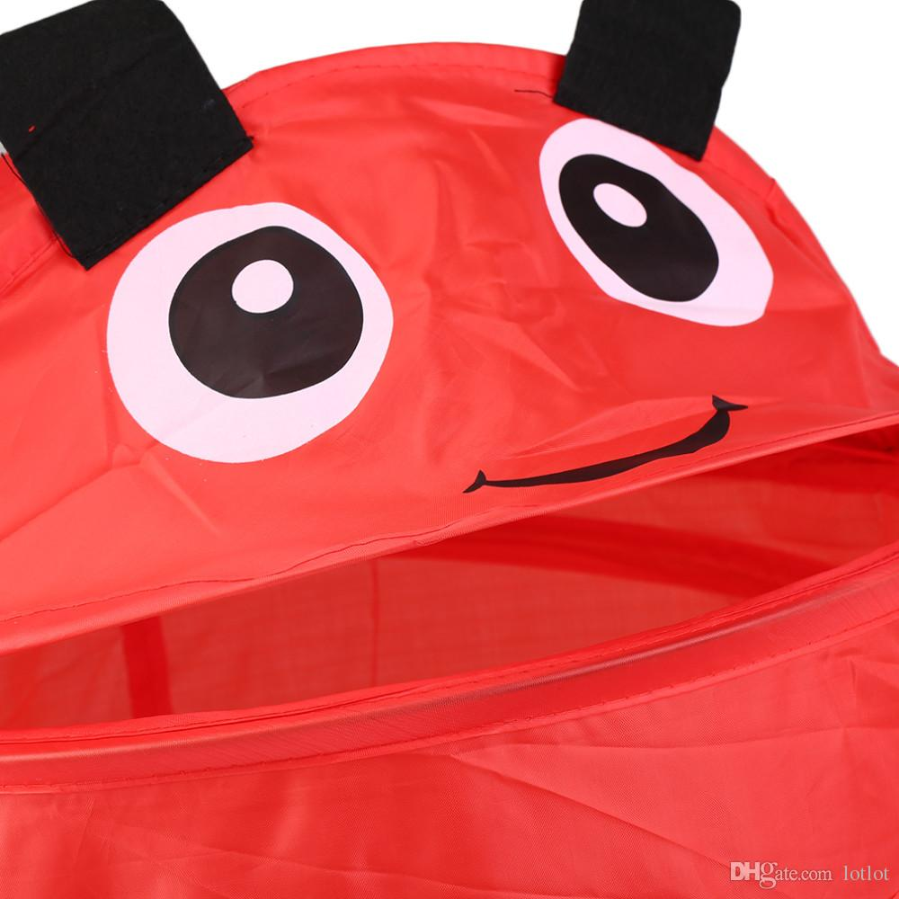 Desenhos animados design animais forma crianças crianças pop-up roupas cesta de armazenamento brinquedos de casa sapatos cesta organizadora de armazenamento