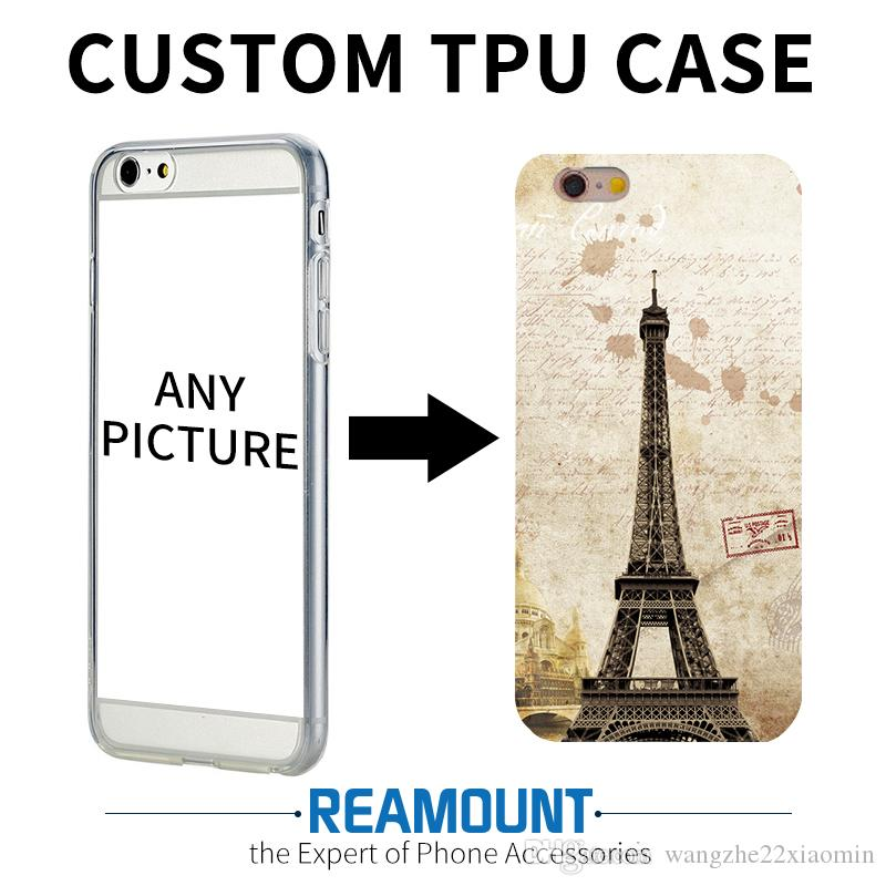 Custom Design DIY Transparente Silicone Case Cover Customized Printing Cell Phone Case for iPhone 6 6s 6plus