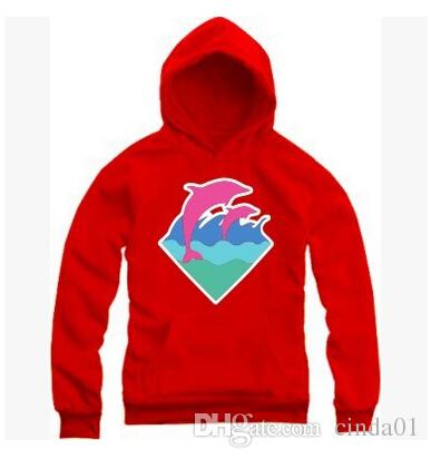 New Autumn Winter Men Fashion Clothing Pink Dolphin Hoodies Sweater For Men Hiphop Sportswear Wholesale M-4XL