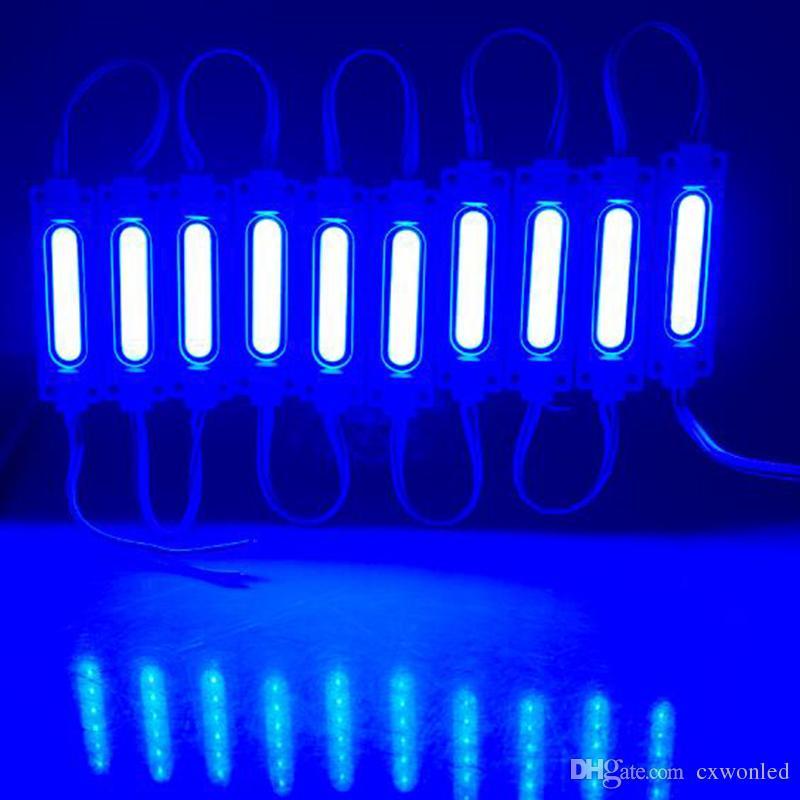 led COB module Light Advertising lampada 2W IP65 Impermeabile DC12V sicuro led luce di fondo bianco caldo / rosso / blu