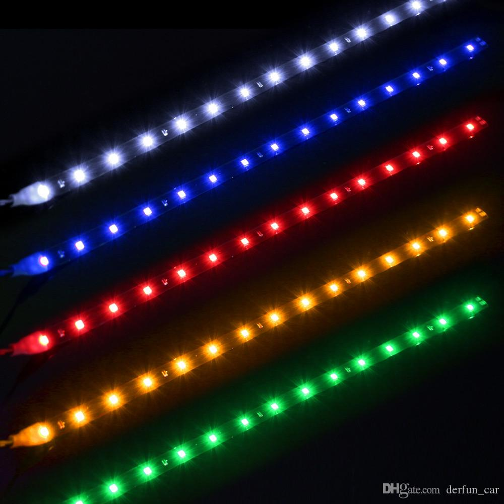 Waterproof car auto decorative flexible led strip highpower 12v waterproof car auto decorative flexible led strip highpower 12v 30cm 15smd car led daytime running light car led strip light drl car interior decor car sciox Gallery