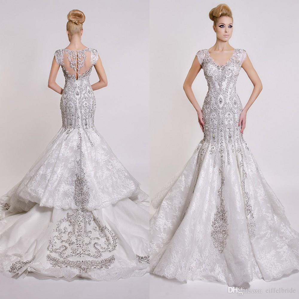 Großhandel Teuer Luxus Sparkly Brautkleider 2017 Sexy Bling Perlen ...