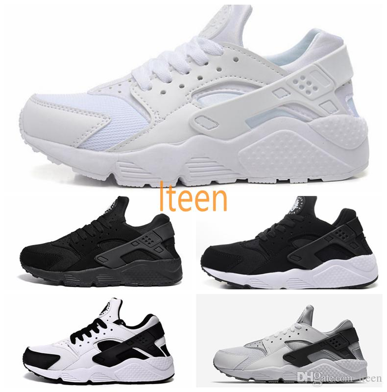 Air Huarache Ultra Classical Black White Oreo Grey Huaraches Shoes Men Women  Running Shoes Sneaker Eur 36 46 Winter Running Shoes White Running Shoes  From ... 71b41524ad