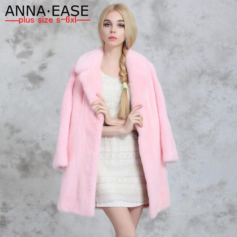 2018 2016 Winter Plus Size Faux Fur Coats Women Long Pink Fur Coat ...