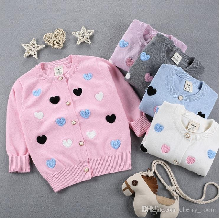 71ab96b45764bc New Autumn Baby Sweater Love Heart Embroidery Warm Cotton Kids ...