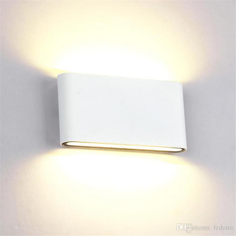 timeless design da10b 0cee8 Aluminum 8W 14W COB LED Wall Light AC110V 220V 100lm/W Dimmable LED Wall  Lamps Indoor & Outdoor Lighting Yard Garden Corridor Room