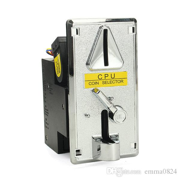 Front type comparable Coin Acceptor CPU Coin Selector Plastic Electronic  Mechanism Arcade Games Machines Accessory Part