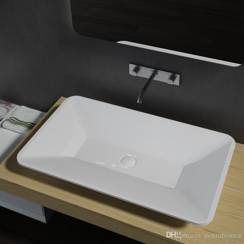 bathroom furniture acrylic resin stone solid surface stone table top counter top basin pb2110 from dhgatecom