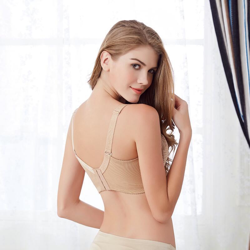 Geleier 2016 Moda Hot Sexy Underwire Cobertura Completa não acolchoado Lace Sheer Tamanho Bra 34 36 38 40
