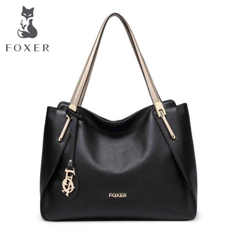 478a35f2930 Wholesale FOXER Brand Women Soft Genuine Leather Shoulder Bags   Handbags  Women S Shoulder Bag Fashion Tote Ladies Hand Bag Ladies Bags Backpack  Purse From ...