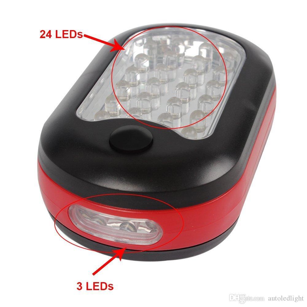 Portáteis Lanternas Outdoor Tenda luzes funcionam Luz Camping Luz de suspensão Repair Lâmpada acender luzes de emergência 24 + 3 Iluminação portátil LED