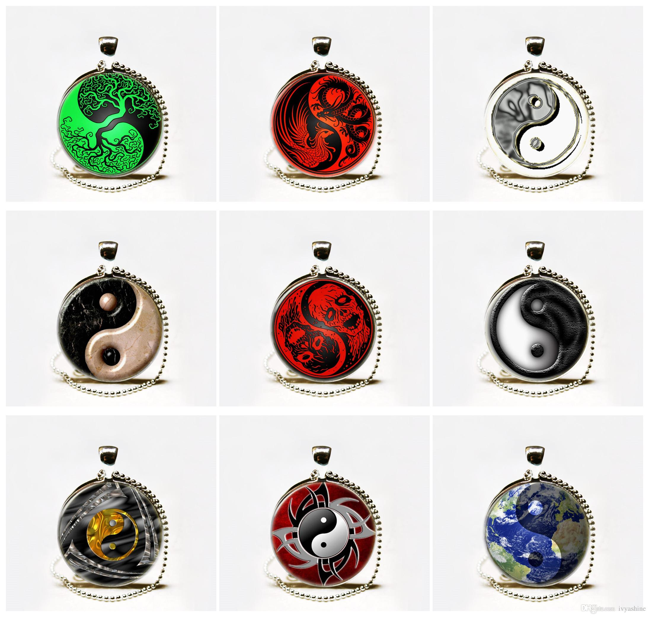 jewelry silver ebay itm gold pewter yin pendant brass vjnb dragon necklace yang