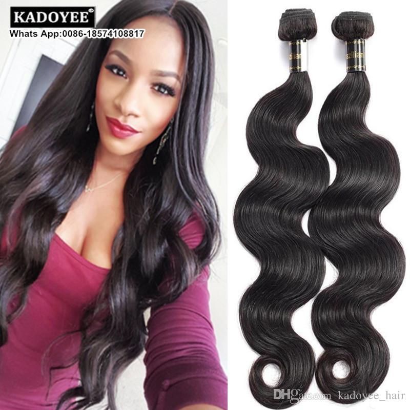 Cheap Brazilian Virgin Body Wave Remy Human Hair Weave 3 Bundles 8