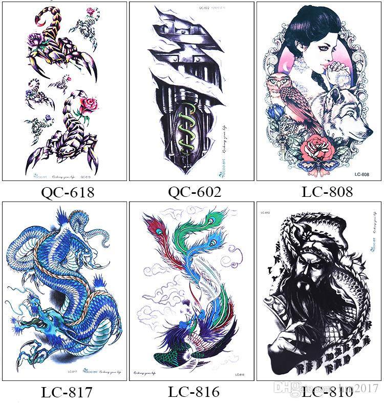 Beautiful Cute Sexy Body Art Beauty Makeup Cool Waterproof Temporary Tattoo Stickers For Girls And Man Tatouage Temporaire