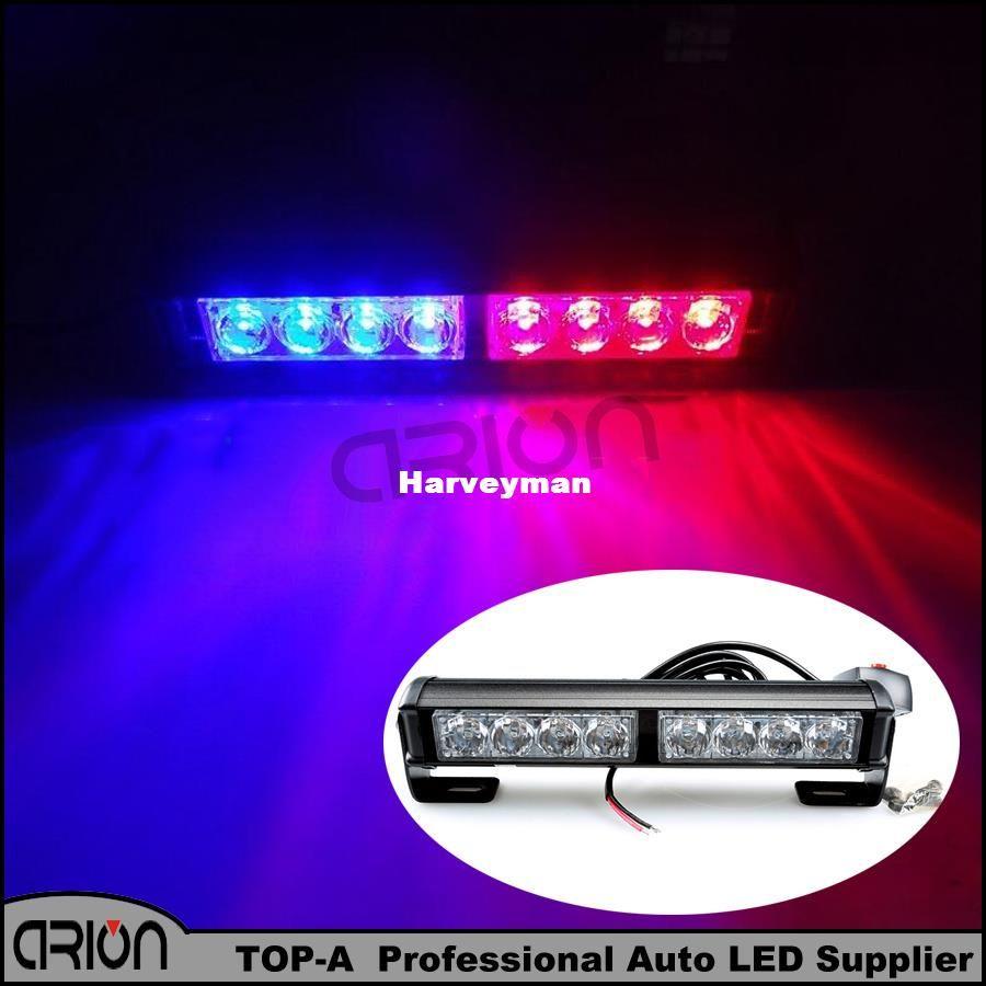 Police Led Lights >> New 8 Led Blue Red Emergency Led Light Police Strobe Lamp Flashing