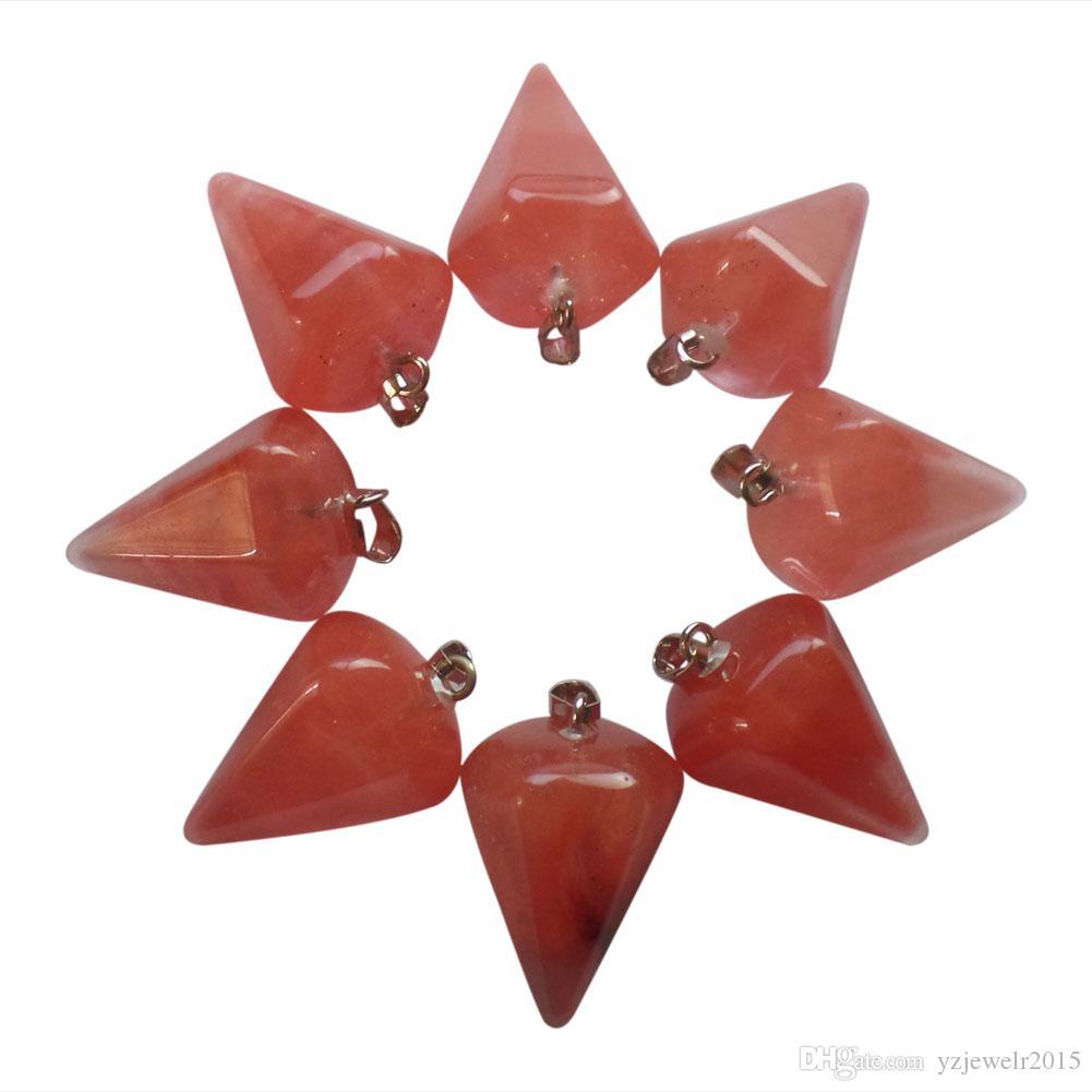 YZ110 Beautiful red agate pendulum Pendant Bead