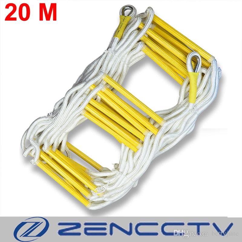 2018 20m Rescue Rope Ladder 66ft Escape Ladder Emergency Work Safety ...