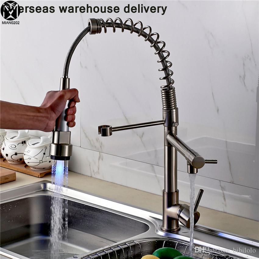 Noenname Null Brand Modern Led Kitchen Faucet