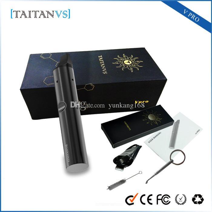Newest Original Taitanvs V-pro Kit Wax Vaporizer Pen Taitan V Pro With  Ceramic Heating Chamber Coil E Cig Kits via DHL