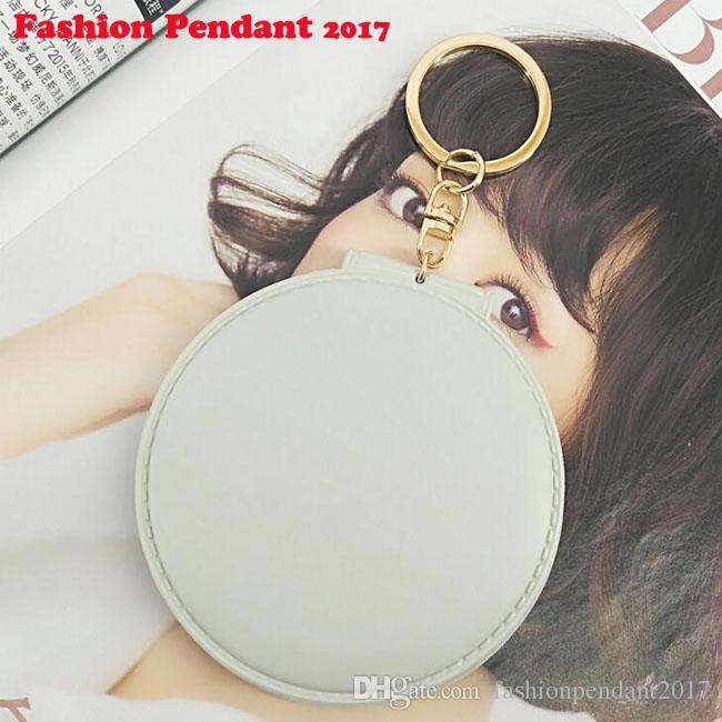 Bola llavero espejo plegable para maquillaje coche llavero colgante espejo portátil para bolsa encantos colgante titular de la clave envío de dhl