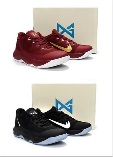 d456805ce3f28 ... Acheter Paul George Pg2 Chaussures De Basket Ball Pour Hommes Sneaker  Blak Vin Dor Blanc Rouge ...