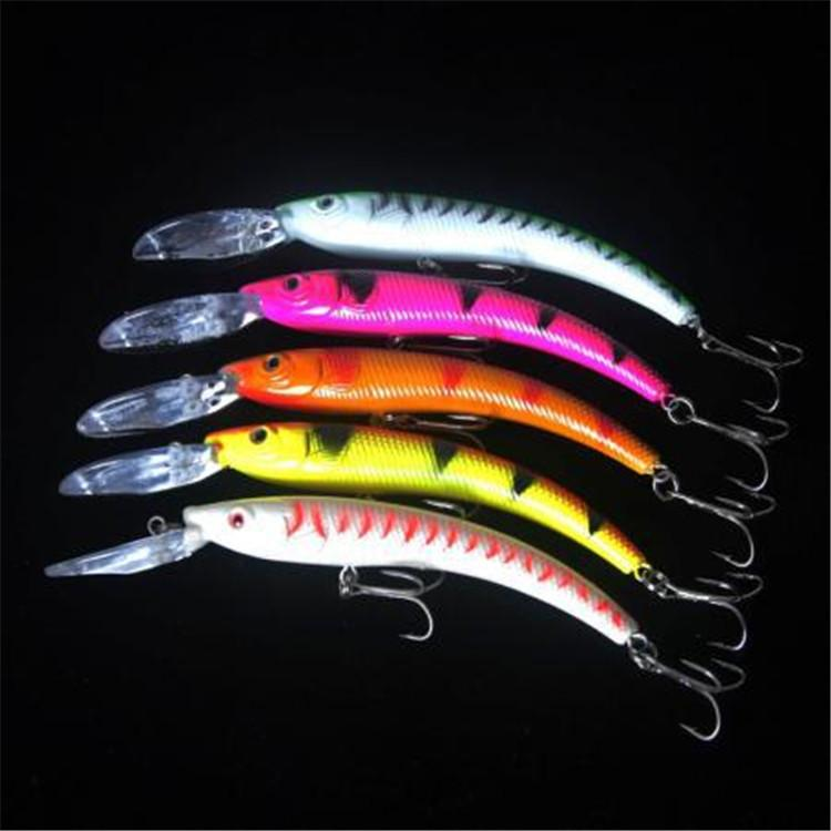 2017 ABS Plastic Fishing lure Crank baits 17g 16cm 3D Eyes Wobblers laser Bait with Treble Hooks Pesca Fishing