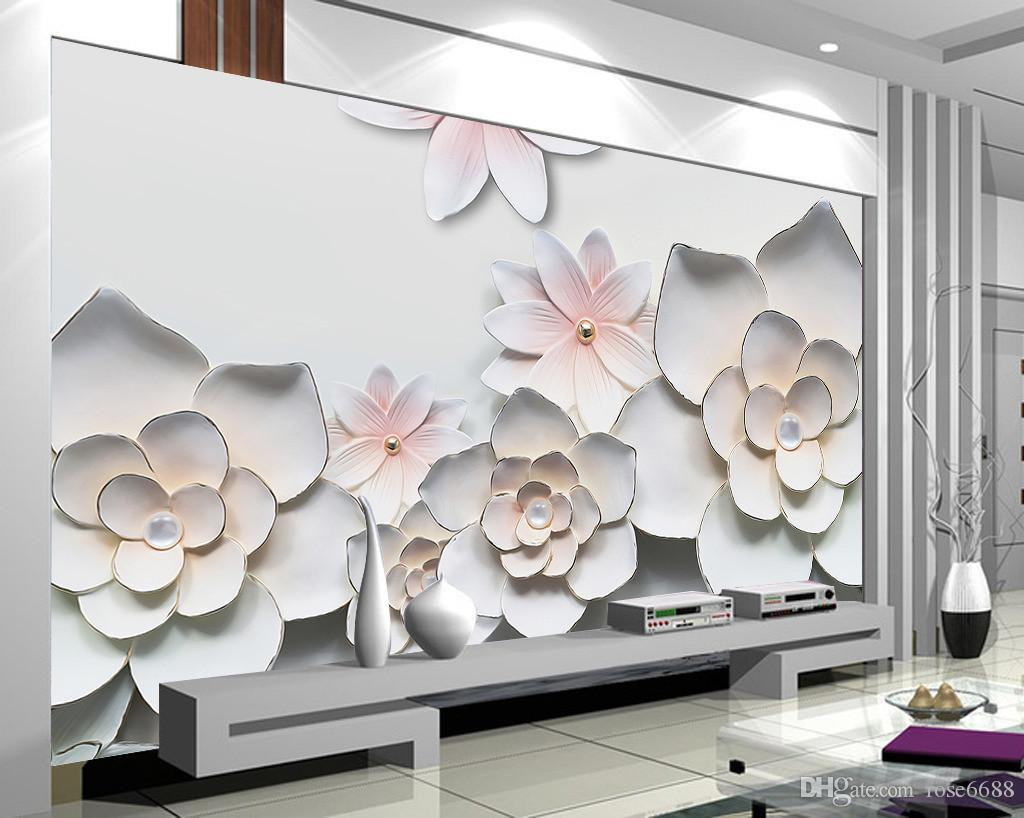 Photo any size home decor living room natural art relief for Home decor 3d wallpaper