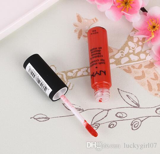 2017 Christmas Gifts Fashion NYX Lip Cream nyx soft matte dull liquid nyx lipstick vintage long lasting lip gloss famous brand lipstick