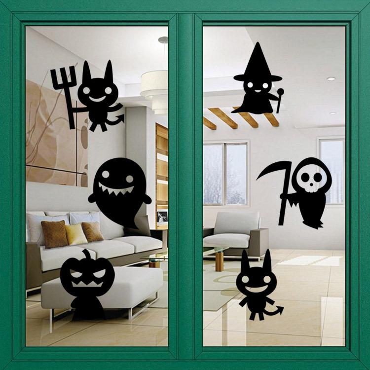 aw9432 halloween creative cute gost home wall halloween party decal